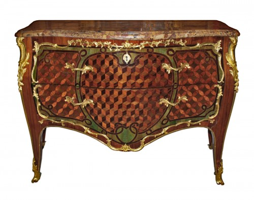 A Louis XV ormolu-mounted Commode  stamped Pierre-Harry Mewesen