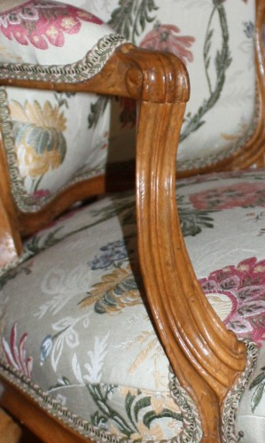"Seating  - A pair of Louis XV Fauteuils ""en Cabriolet"" by Pierre Rémy"