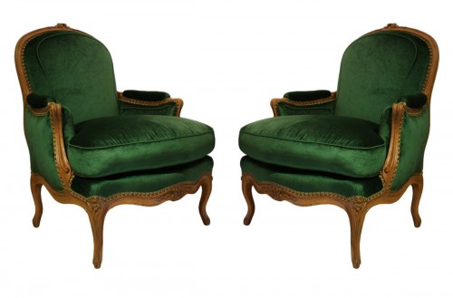 A pair of Louis XV Bergères