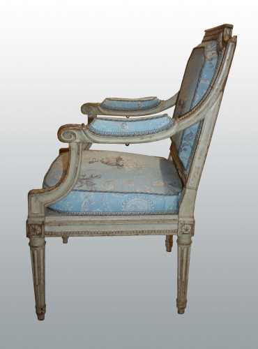 "A set of four Louis XVI Fauteuils ""à Châssis"" by Jean-Baptiste III Lelarge - Seating Style Louis XVI"