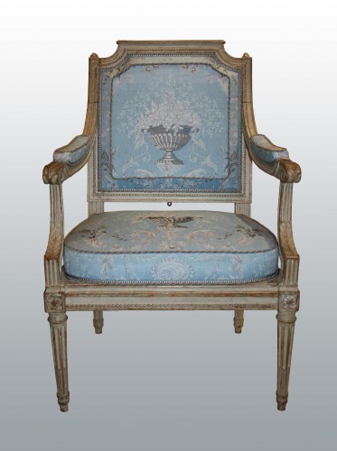 "Seating  - A set of four Louis XVI Fauteuils ""à Châssis"" by Jean-Baptiste III Lelarge"