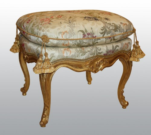 Seating  - A pair of Louis XV giltwood stools Mid-18th Century