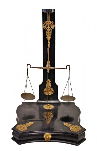 A Louis XIV ebonised Money Scales