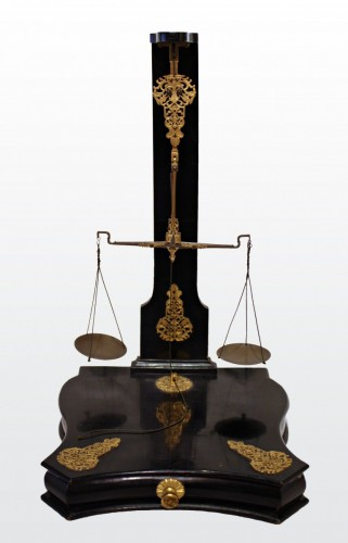 Collectibles  - A Louis XIV ebonised Money Scales