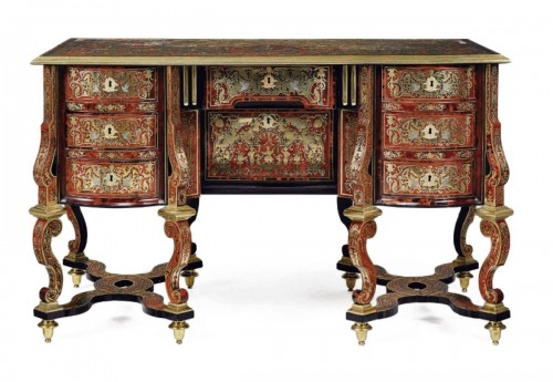 A Louis XIV Boulle marquetry Bureau Mazarin attributed to Nicolas Sageot