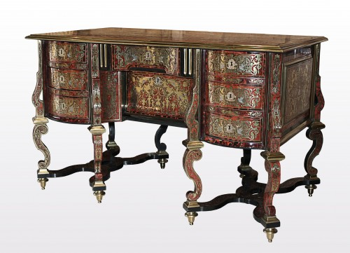 A Louis XIV Boulle marquetry Bureau Mazarin attributed to Nicolas Sageot - Furniture Style Louis XIV