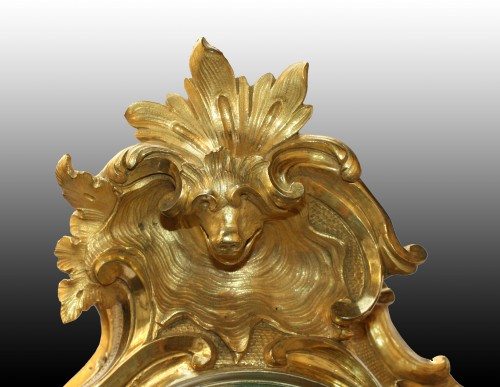 A large Louis XV  ormolu-clock by Jean-Baptiste Baillon   - Clocks Style Louis XV