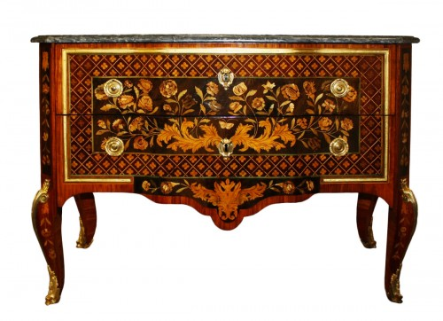 A Transitional commode stamped by Charles Krier
