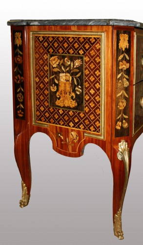 A Transitional commode stamped by Charles Krier -