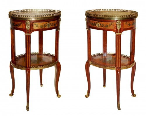 A pair of Transitional occasional Tables stamped by Charles Topino