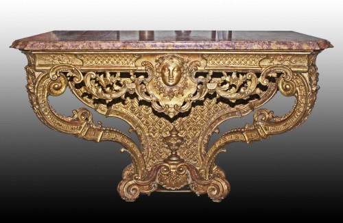 "Louis XIV - Console d'Applique Louis XIV ""au Masque de Femme"""