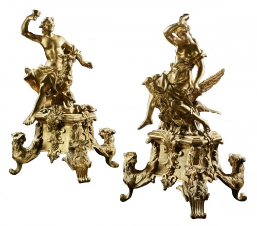 Pair of 18th century ormolu Chenets