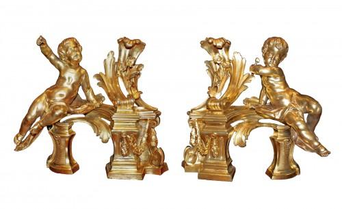 A pair ormolu Chenets