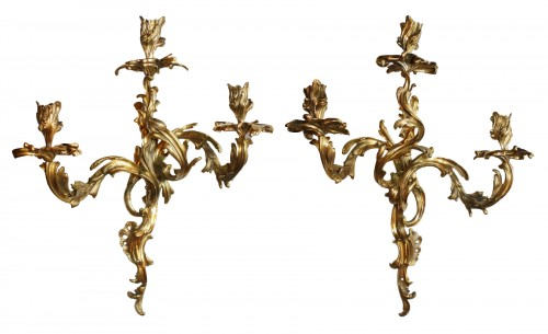 A pair of Louis XV wall-Lights