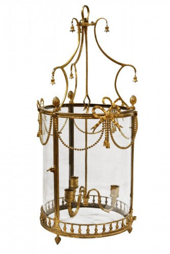 French Louis XVI bronze lantern