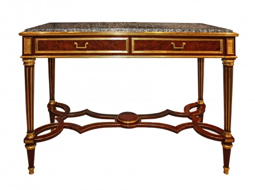 A Louis XVI Console Table  attributed to Adam Weisweiler
