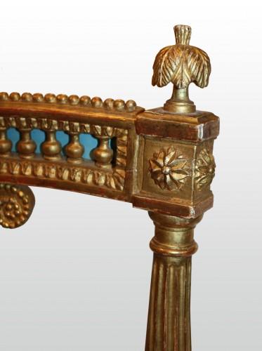 Antiquités - A set of four Louis XVI giltwood  Fauteuils à dossier Lyre