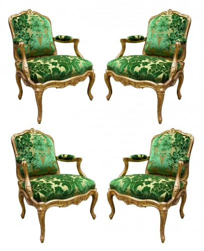 A set of four Fauteuils à Châssis attributed to Louis Cresson