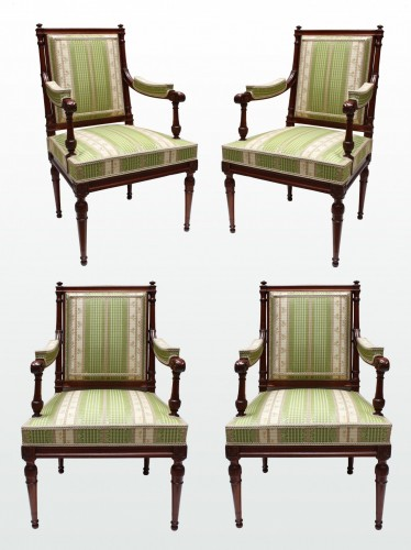 Mahogany Living Room Furniture by Georges Jacob - Louis XVI