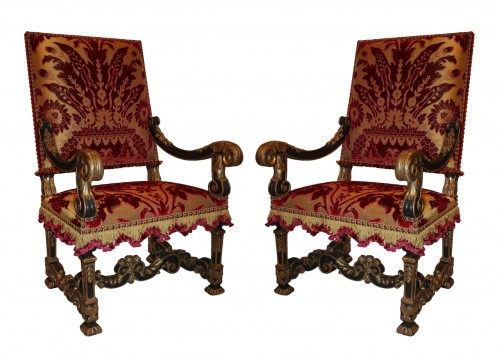 A pair of Louis XIV Fauteuils