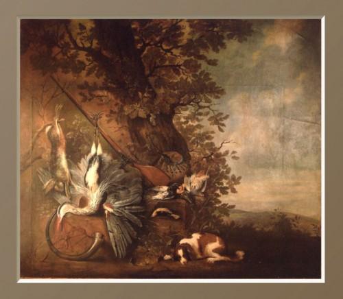Large hunting composition - Pieter van Noort (1622-1672)