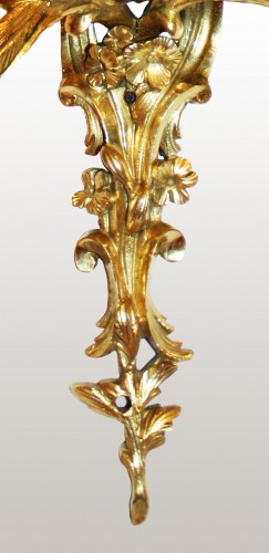 Lighting  - A pair of Louis XV lacquered and giltbronze twin-branch wall-lights