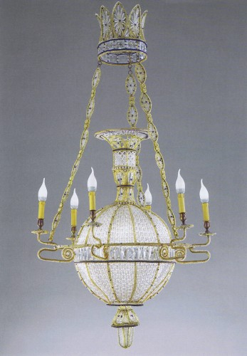 "Exceptional pair of  ""à la Montgolfière"" Chandeliers -"
