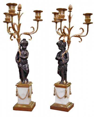 "A pair of Candelabra ""aux Enfants"""