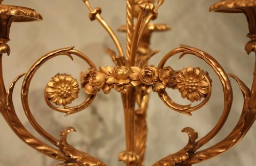"""A pair of Louis XVI Candelabra """"aux Vestales"""" -"""