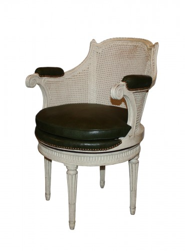 Cabinet chair with rotating seat by Pierre Bernard