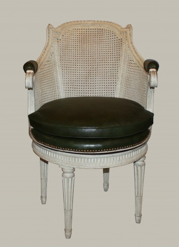 Cabinet chair with rotating seat by Pierre Bernard -