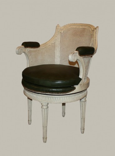Antiquités - Cabinet chair with rotating seat by Pierre Bernard
