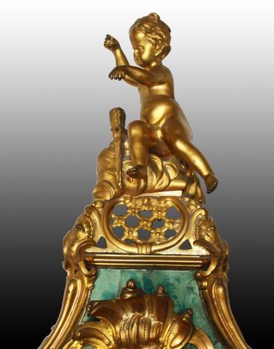 Horology  - Cartel d'Applique in green horn by Burgeat in Versailles