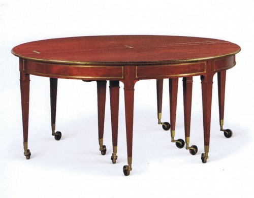 - Large dining room table with extensions attributed to Jean-Joseph Chapuis