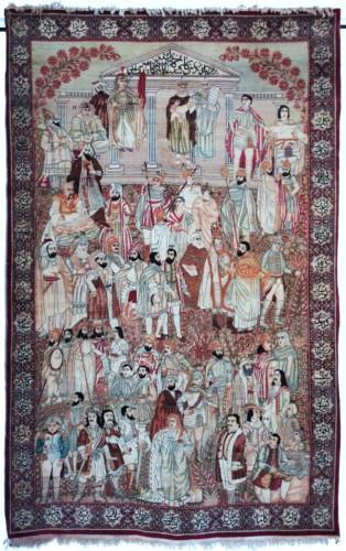 Kirman Laver carpet in Wool - Iran Circa 1890