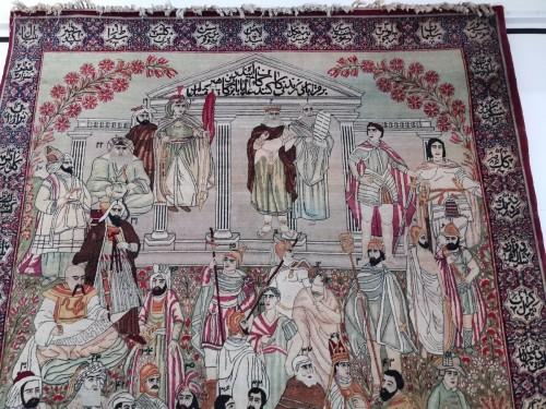 Kirman Laver carpet in Wool - Iran Circa 1890 - Tapestry & Carpet Style