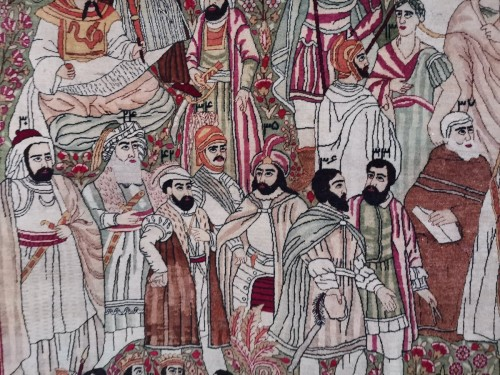 Tapestry & Carpet  - Kirman Laver carpet in Wool - Iran Circa 1890