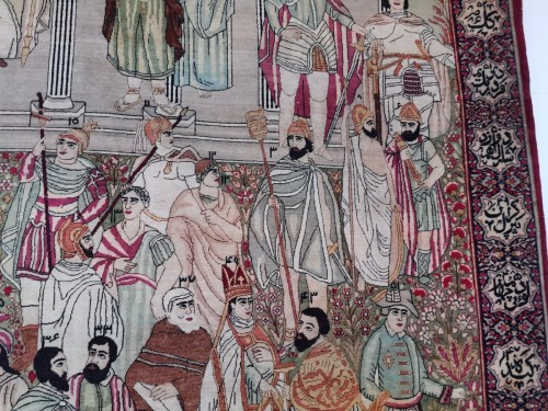19th century - Kirman Laver carpet in Wool - Iran Circa 1890