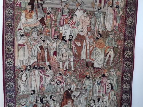 Antiquités - Kirman Laver carpet in Wool - Iran Circa 1890