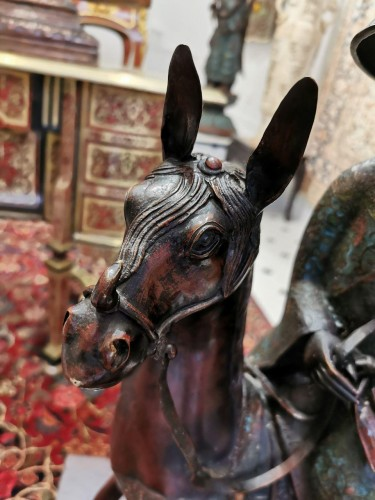 Asian Art & Antiques  - Toba on its mule - Japan Late 19th Century
