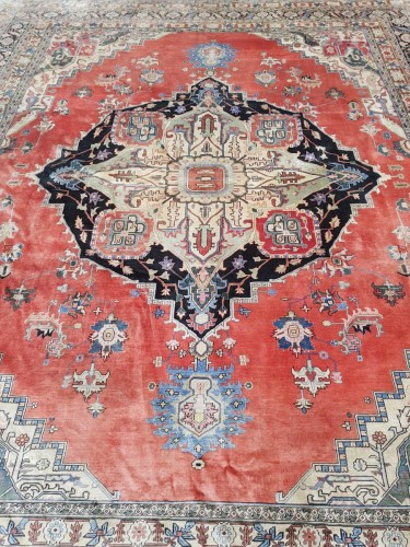 - Heriz Silk carpet, North West Persia Late 19th Century