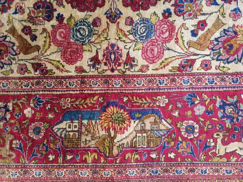 Tapestry & Carpet  - Beautiful Kachan carpet in Silk - Iran Around 1900 - 19th Century