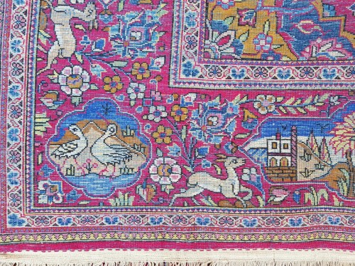 Beautiful Kachan carpet in Silk - Iran Around 1900 - 19th Century -