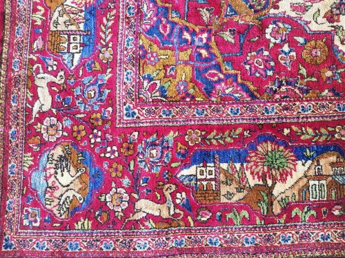 19th century - Beautiful Kachan carpet in Silk - Iran Around 1900 - 19th Century