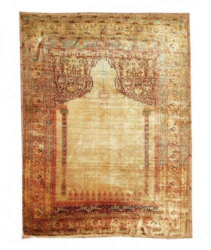 Tabriz Aldjajhiji carpet In Silk - Iran XIX