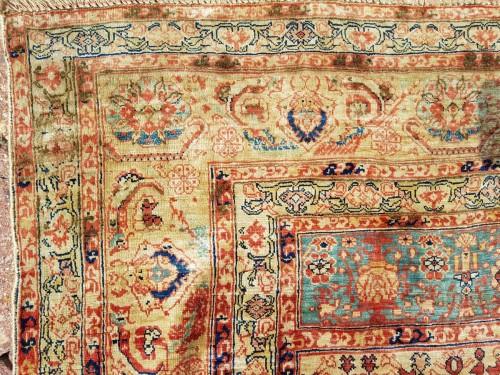 Tabriz Aldjajhiji carpet In Silk - Iran XIX - Tapestry & Carpet Style
