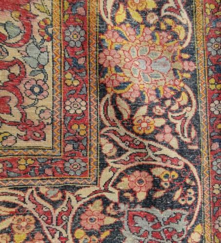 Kork Wool carpet - Teheran - Iran Late 19th -