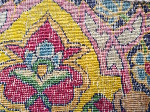 Teheran Wool Kork carpet - Iran Circa 1880 19th - Tapestry & Carpet Style