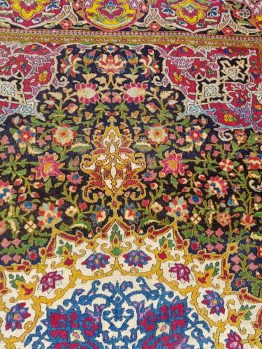 Teheran Wool Kork carpet - Iran Circa 1880 19th -