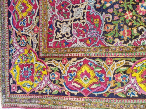 19th century - Teheran Wool Kork carpet - Iran Circa 1880 19th